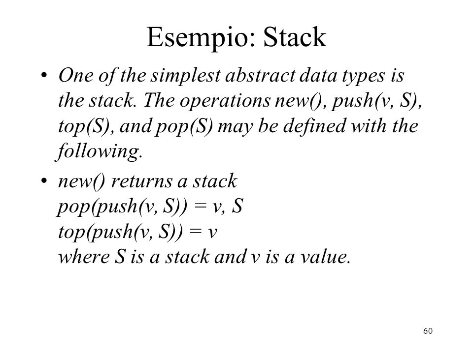 Esempio: Stack