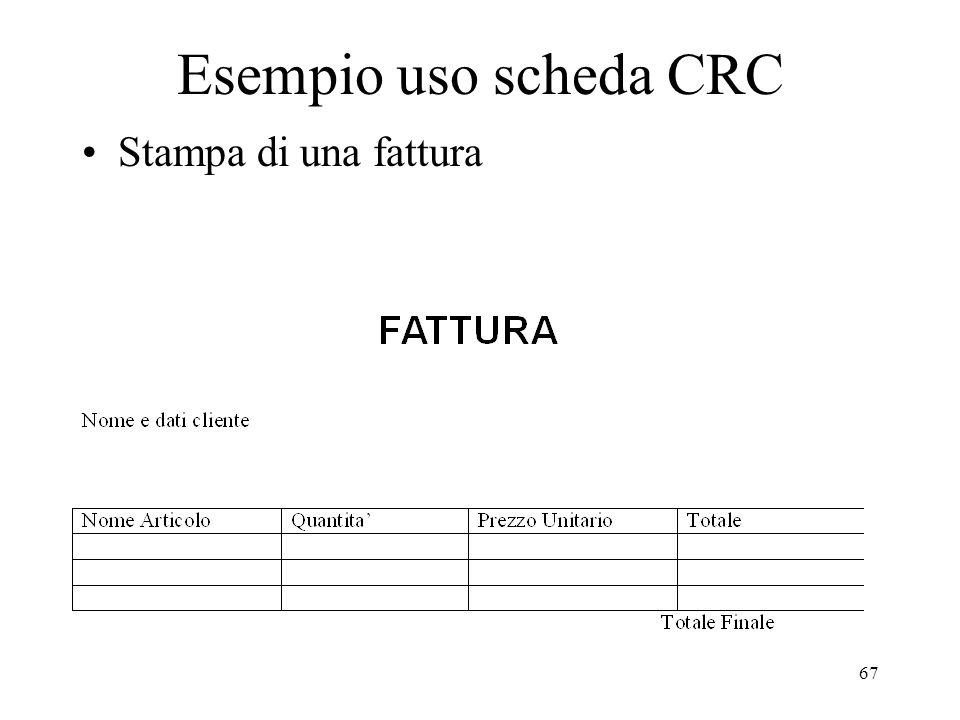 Esempio uso scheda CRC Stampa di una fattura