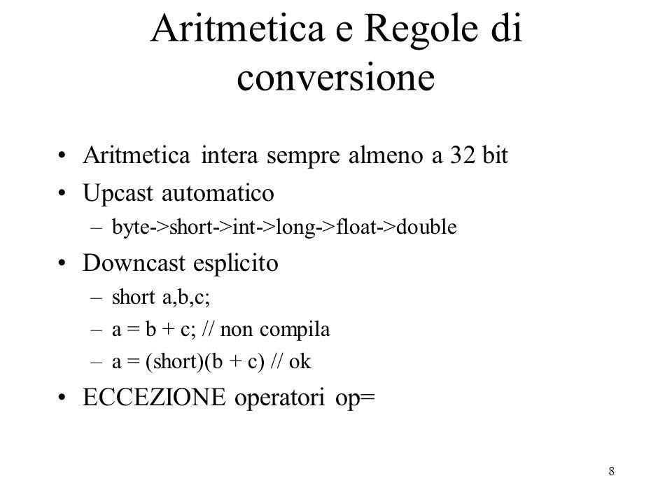 Aritmetica e Regole di conversione