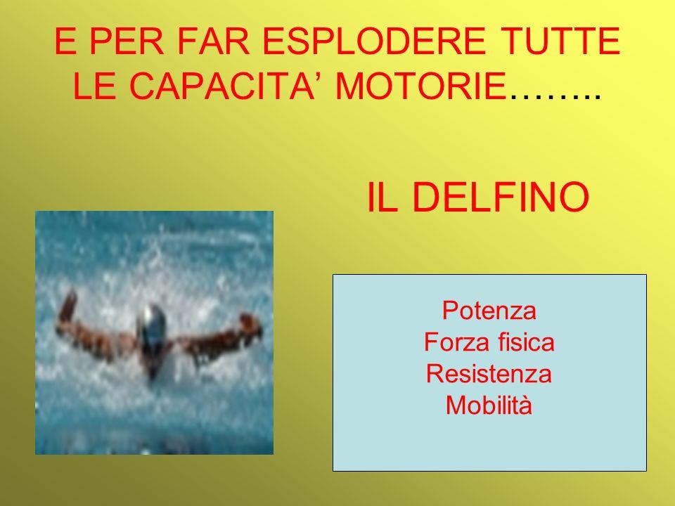 E PER FAR ESPLODERE TUTTE LE CAPACITA' MOTORIE……..