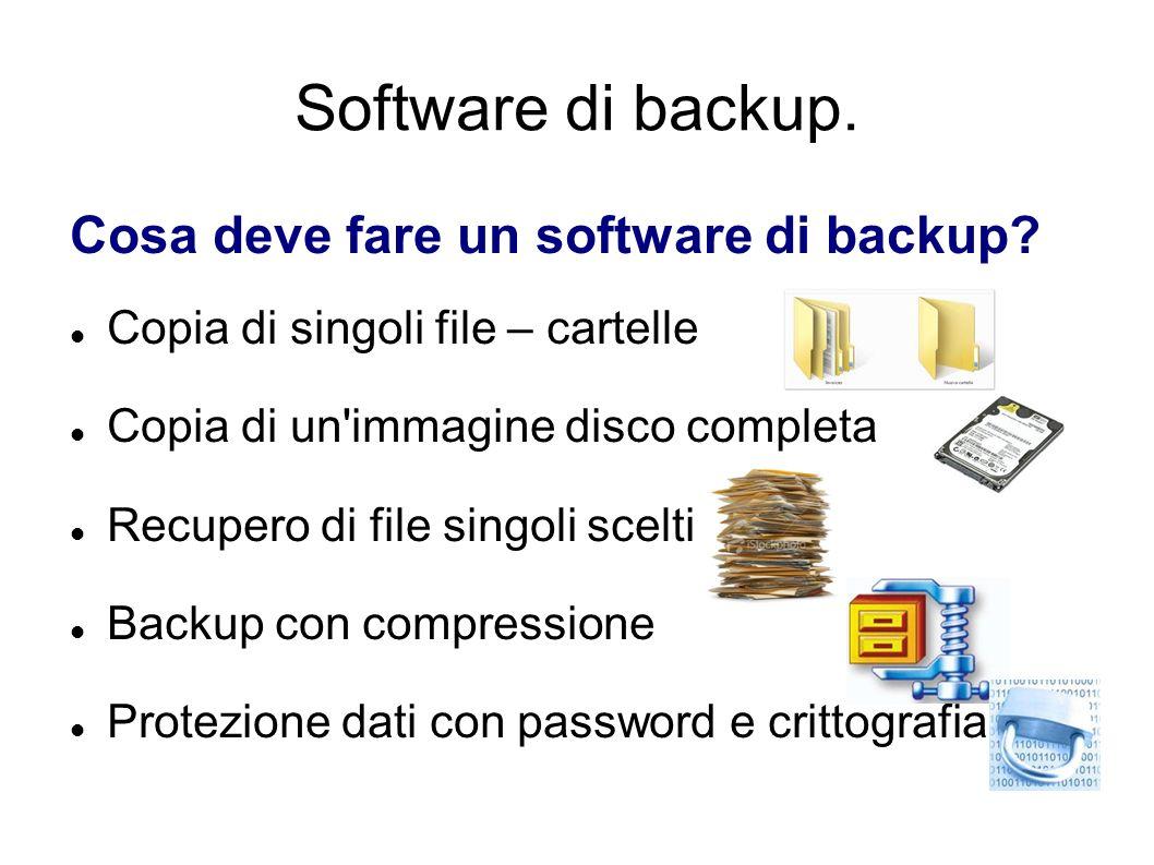 Software di backup. Cosa deve fare un software di backup