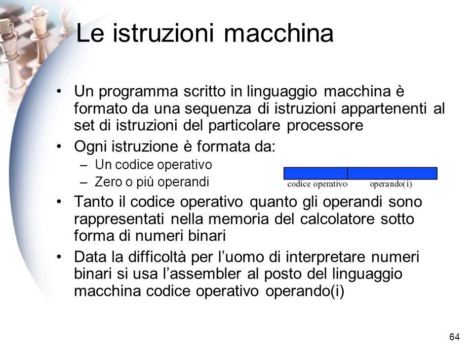 Le istruzioni macchina