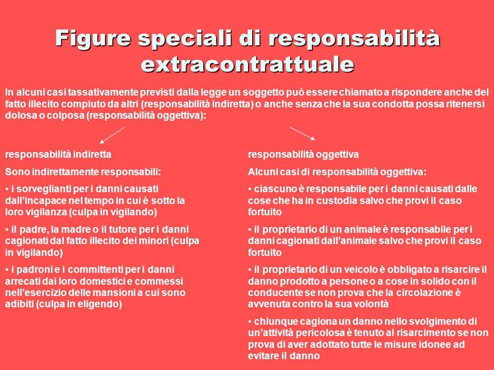 Figure speciali di responsabilità extracontrattuale