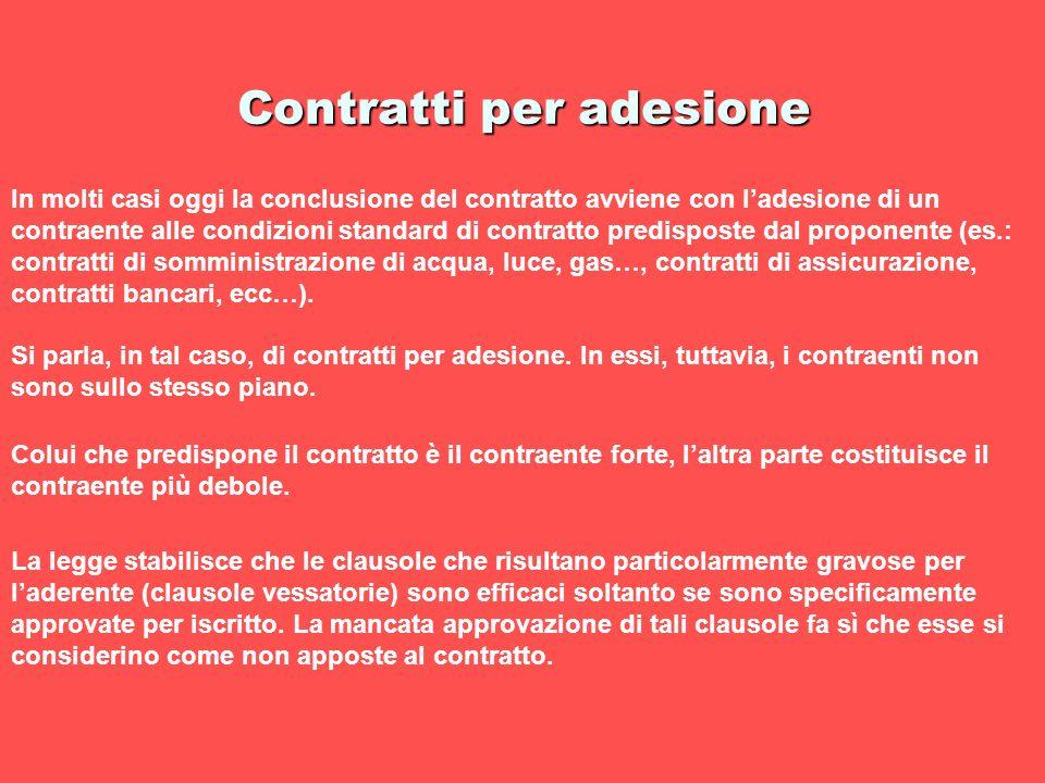 Contratti per adesione