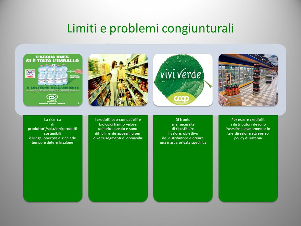 Limiti e problemi congiunturali