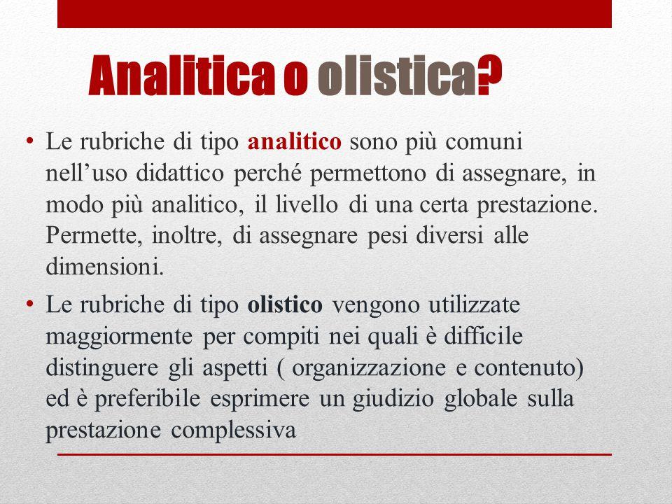 Analitica o olistica