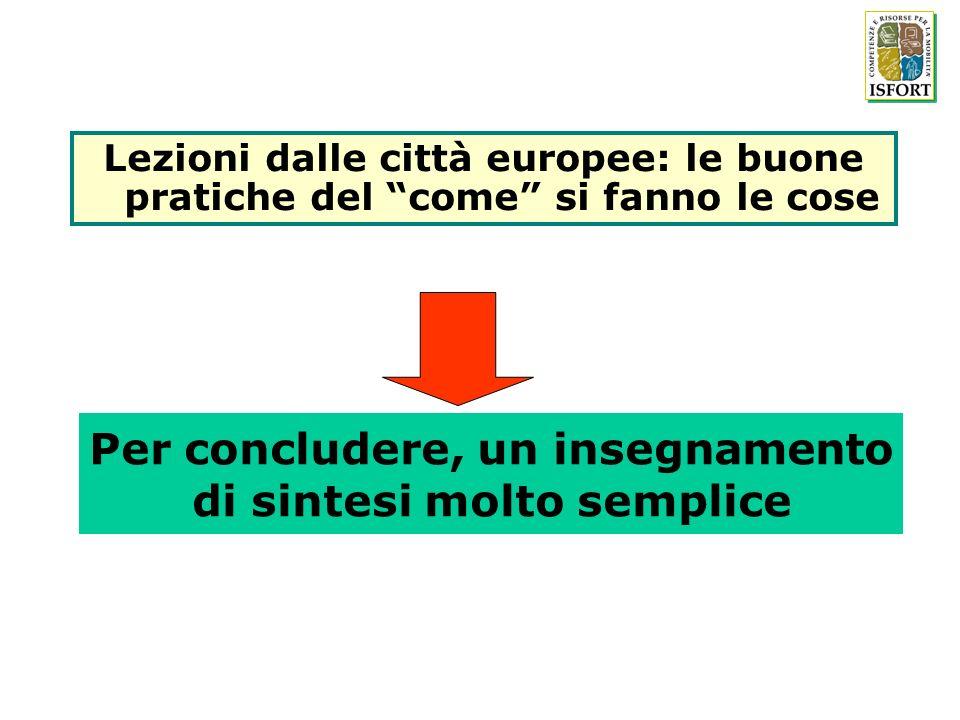 Per concludere, un insegnamento di sintesi molto semplice