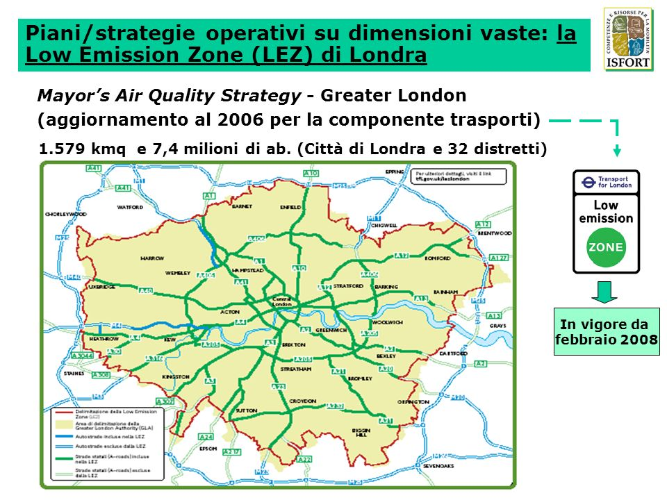 Piani/strategie operativi su dimensioni vaste: la Low Emission Zone (LEZ) di Londra