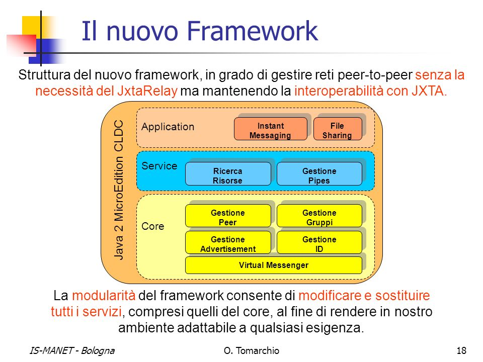 Il nuovo Framework