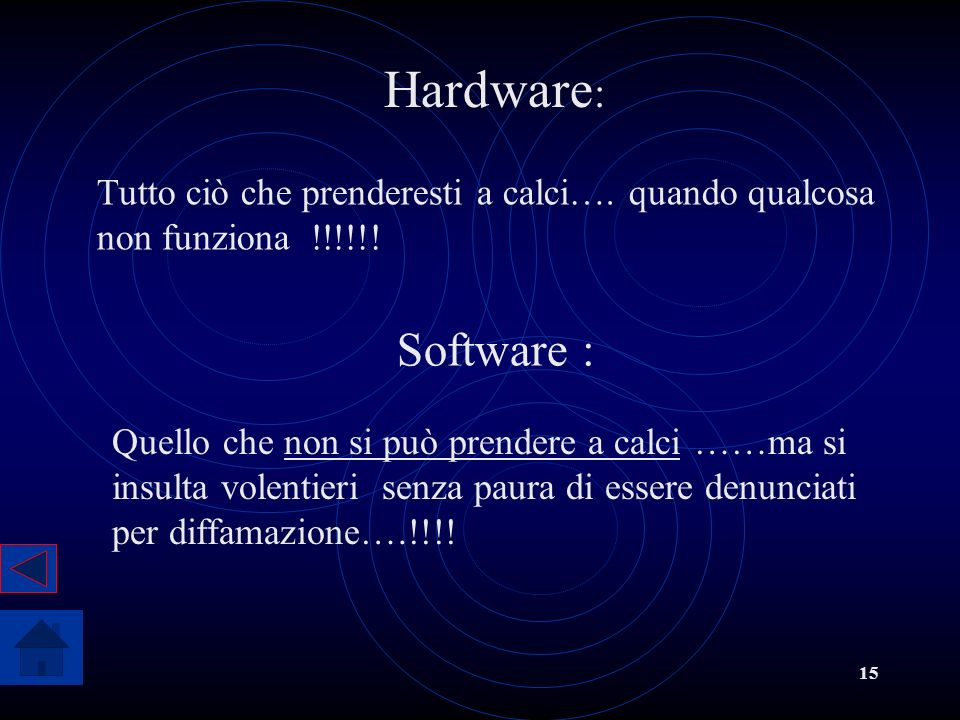 Hardware: Tutto ciò che prenderesti a calci…. quando qualcosa non funziona !!!!!! Software :