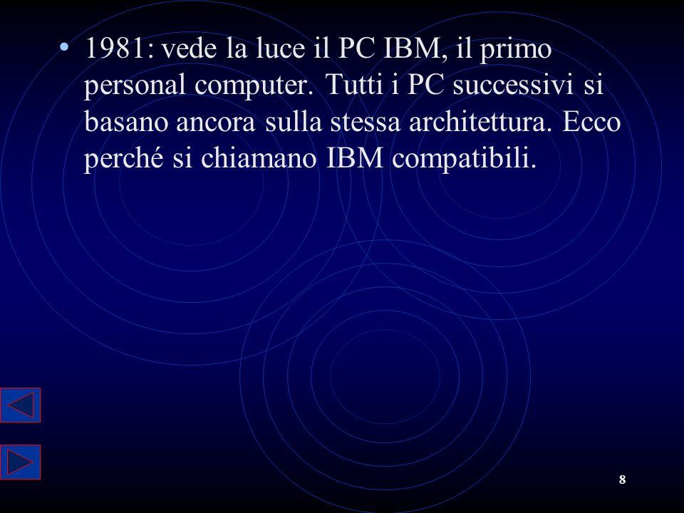 1981: vede la luce il PC IBM, il primo personal computer