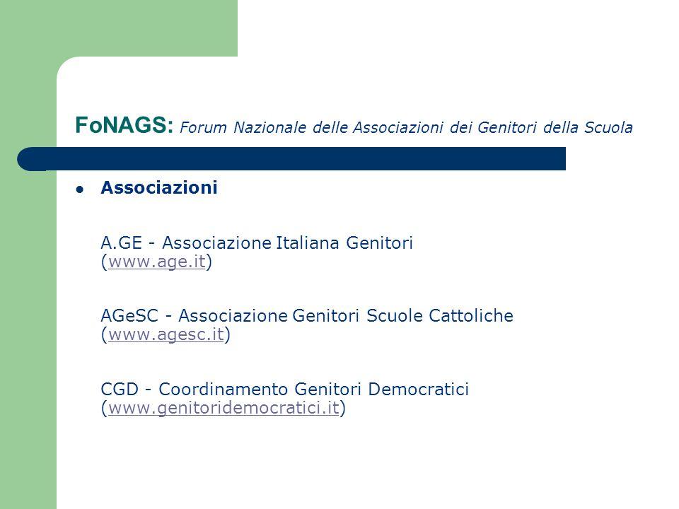 FoNAGS: Forum Nazionale delle Associazioni dei Genitori della Scuola
