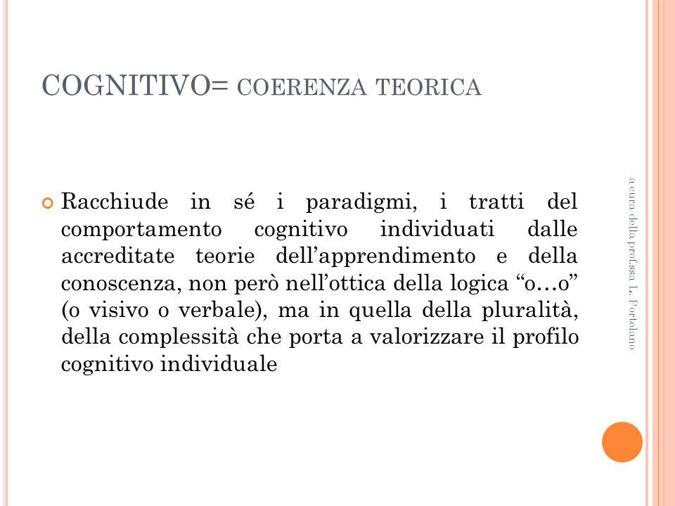COGNITIVO= coerenza teorica