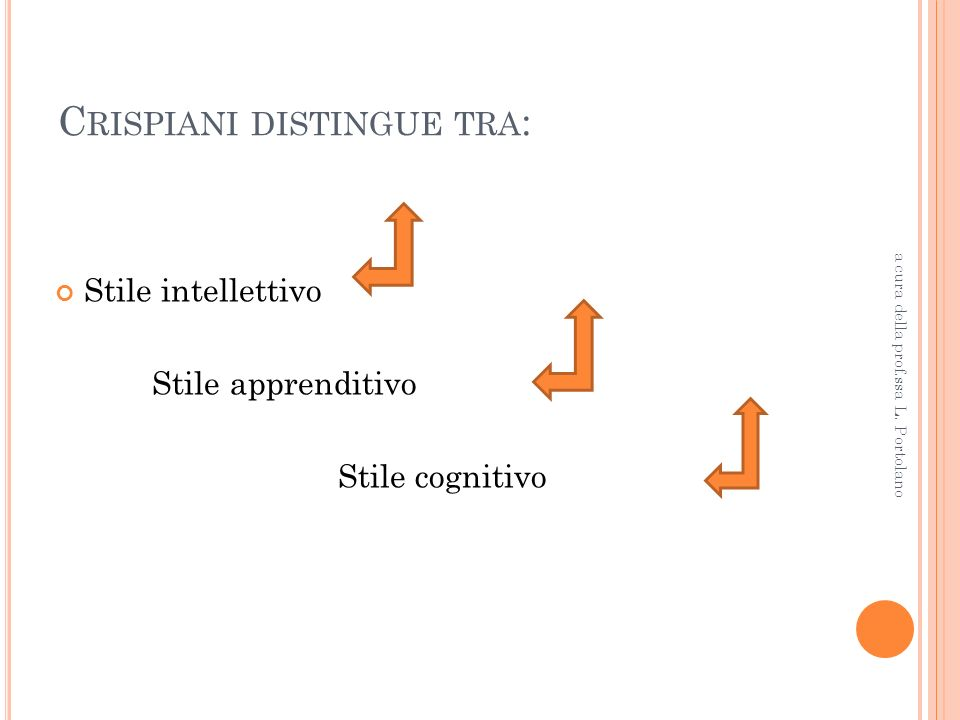 Crispiani distingue tra: