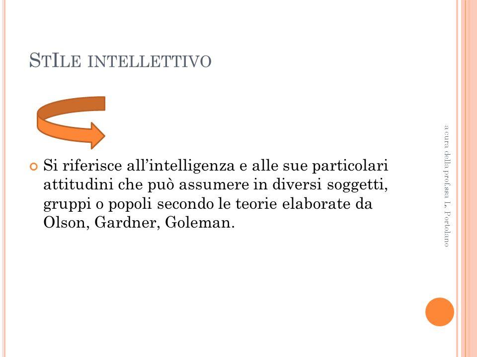 StIle intellettivo