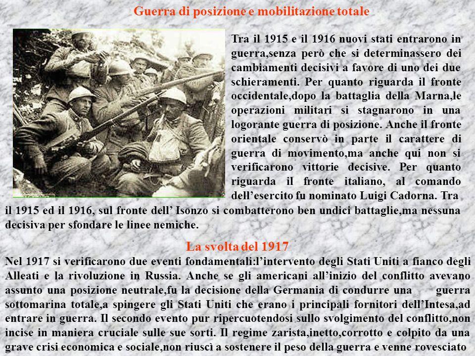 Guerra di posizione e mobilitazione totale