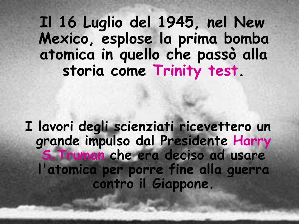Il 16 Luglio del 1945, nel New Mexico, esplose la prima bomba atomica in quello che passò alla storia come Trinity test.