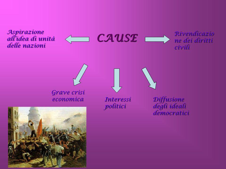 CAUSE Aspirazione all'idea di unità delle nazioni