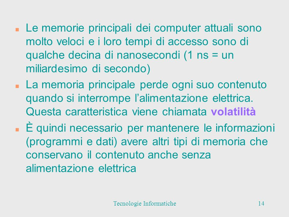 Tecnologie Informatiche