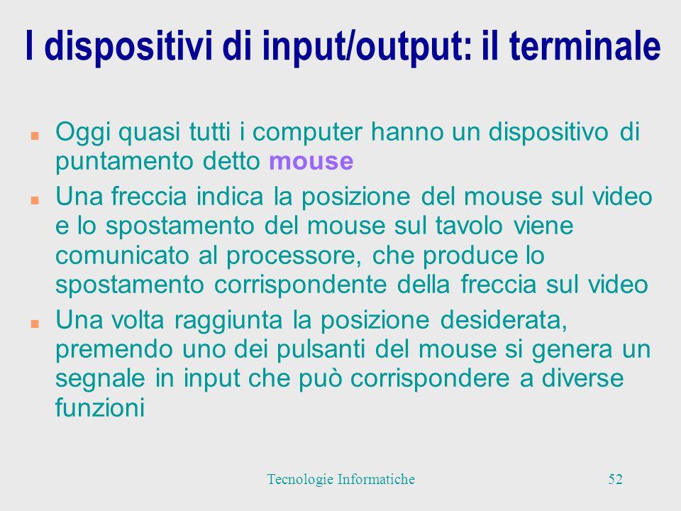 I dispositivi di input/output: il terminale