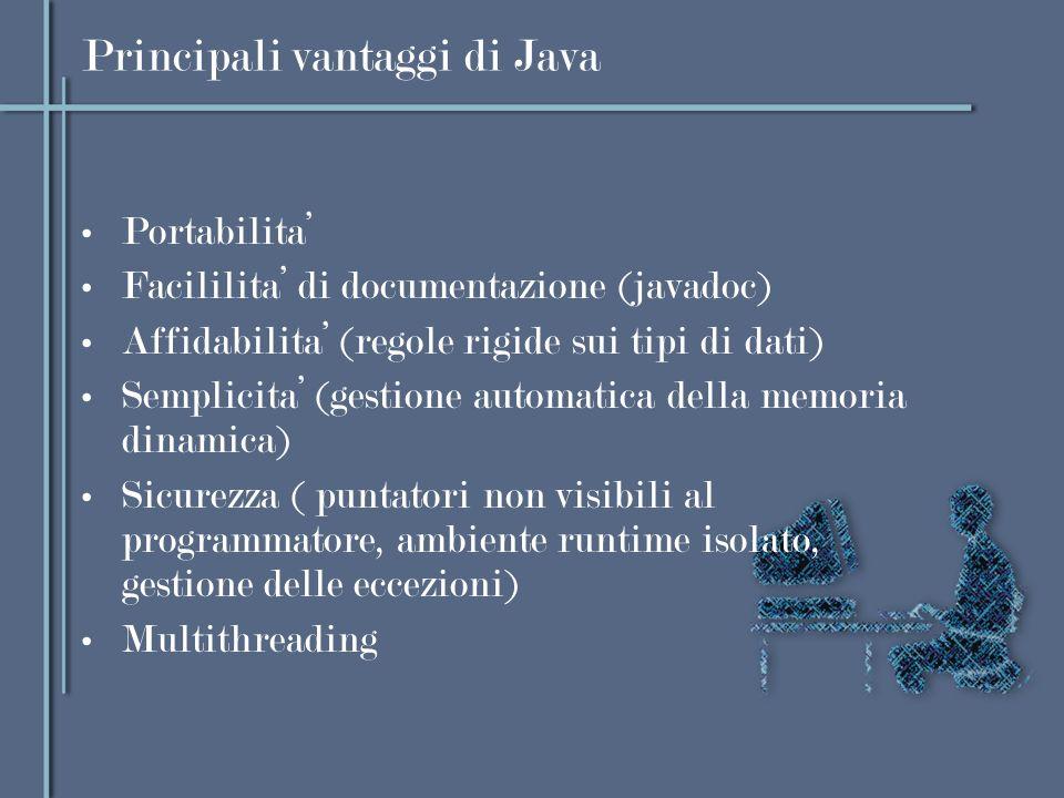 Principali vantaggi di Java