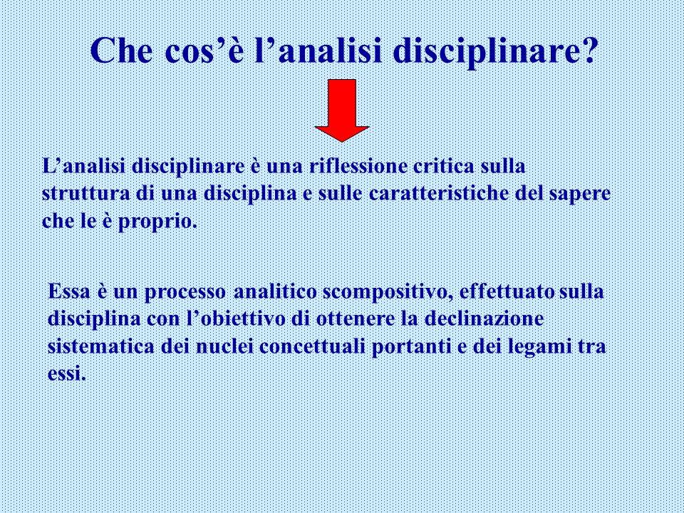 Che cos'è l'analisi disciplinare