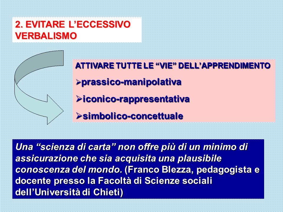 2. EVITARE L'ECCESSIVO VERBALISMO