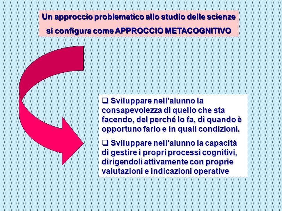 Un approccio problematico allo studio delle scienze