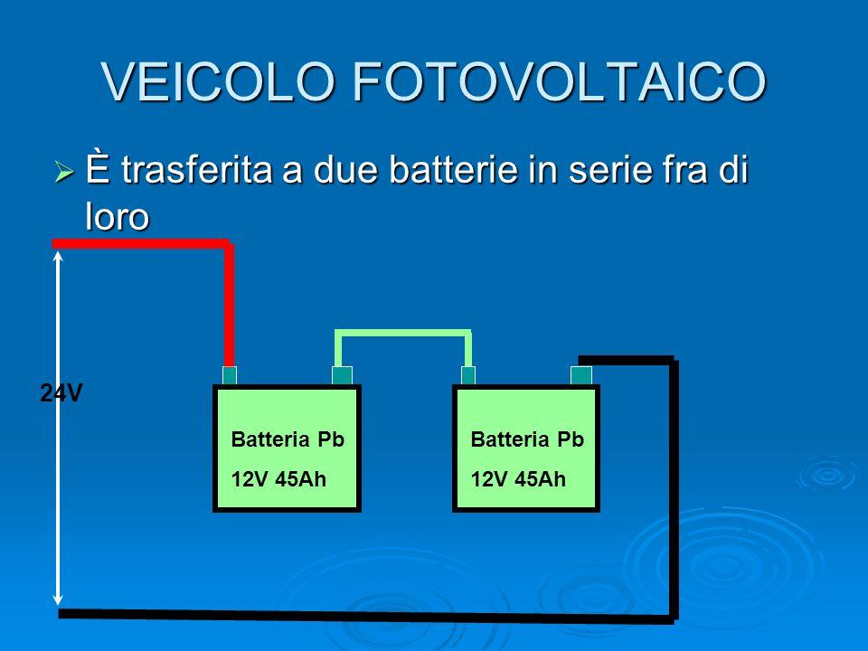 VEICOLO FOTOVOLTAICO È trasferita a due batterie in serie fra di loro