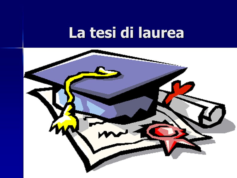 La tesi di laurea