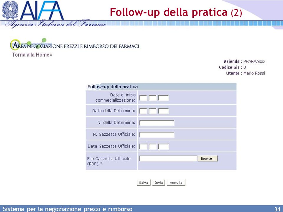 Follow-up della pratica (2)