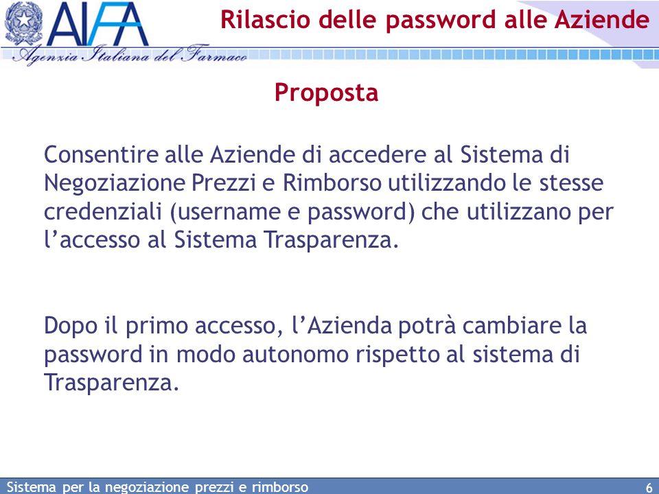 Rilascio delle password alle Aziende