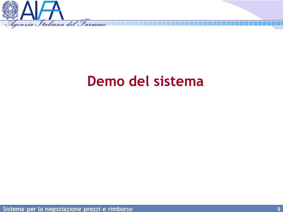 Demo del sistema