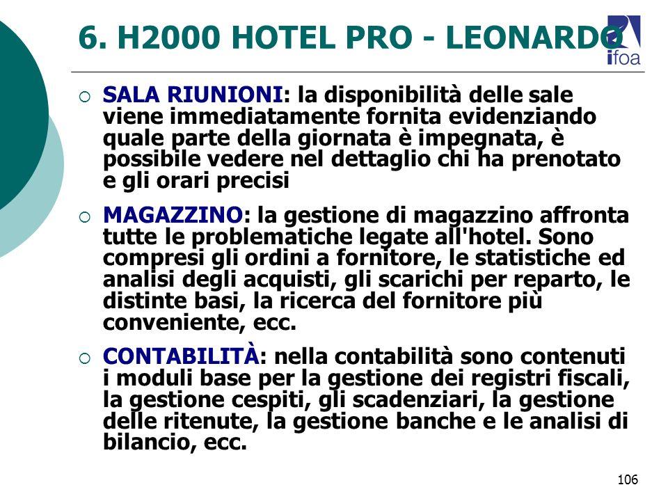 6. H2000 HOTEL PRO - LEONARDO