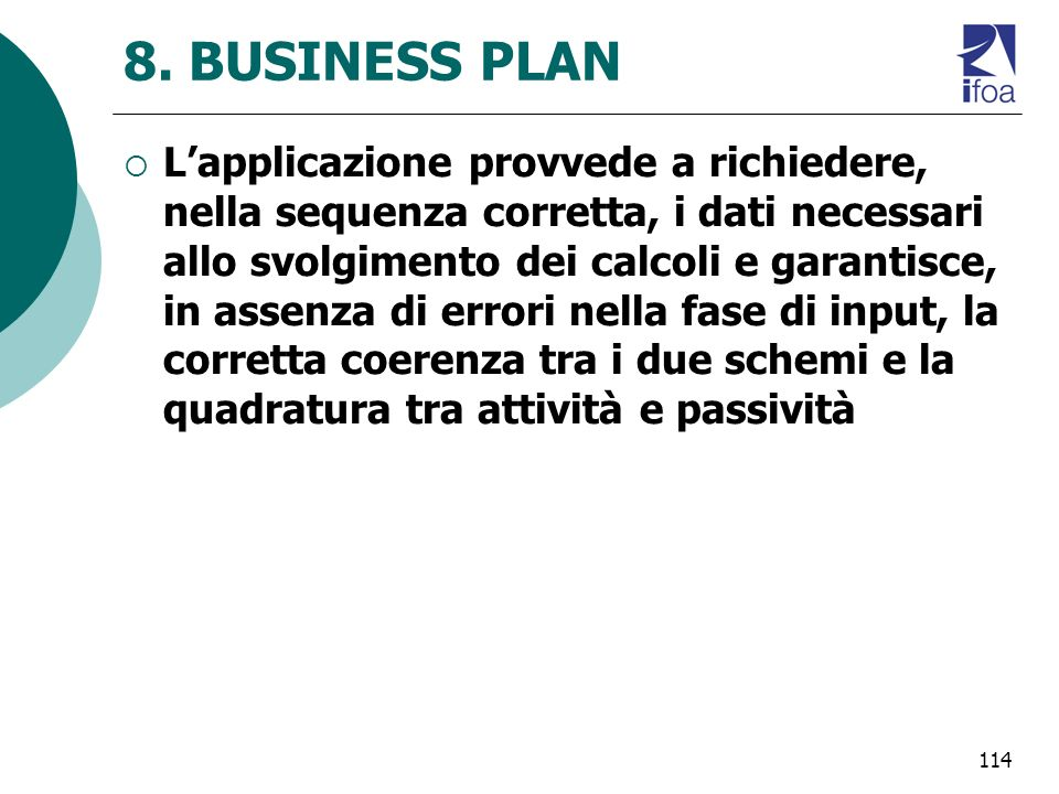 8. BUSINESS PLAN