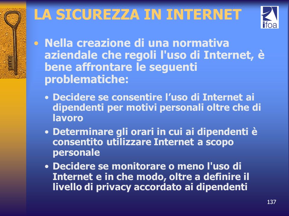 LA SICUREZZA IN INTERNET