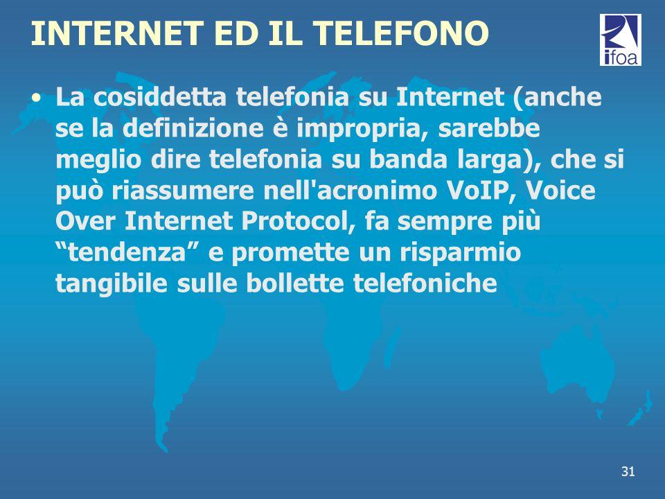 INTERNET ED IL TELEFONO