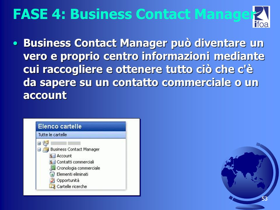 FASE 4: Business Contact Manager