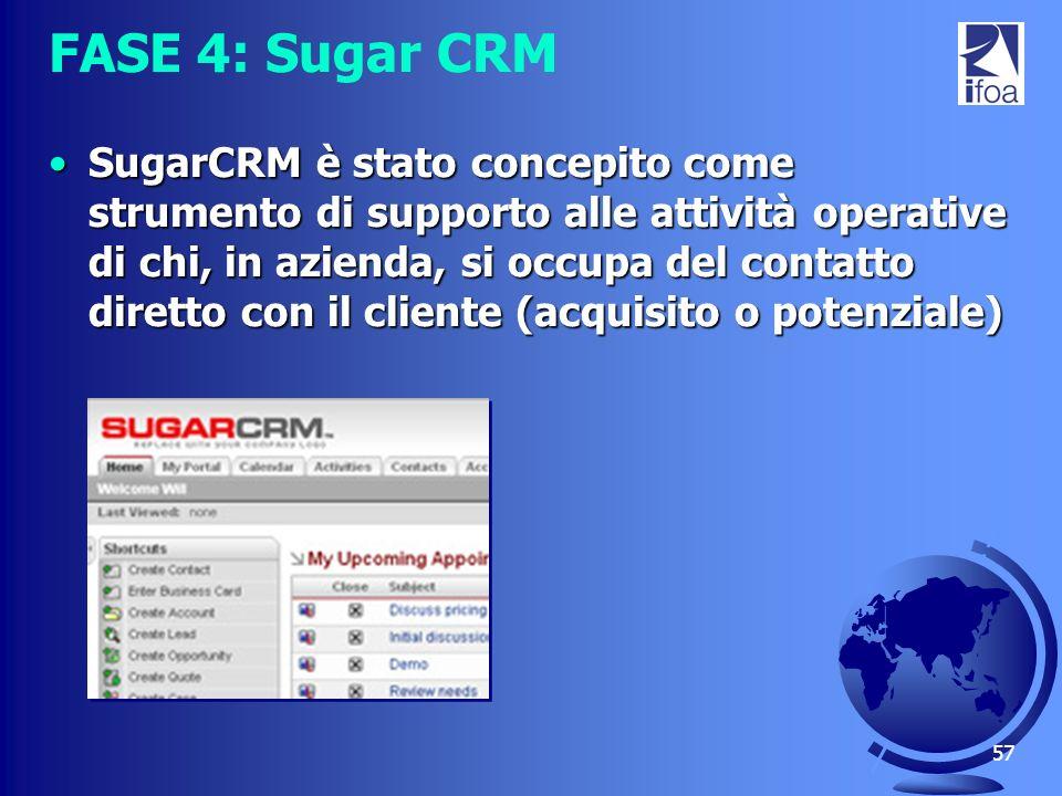 FASE 4: Sugar CRM