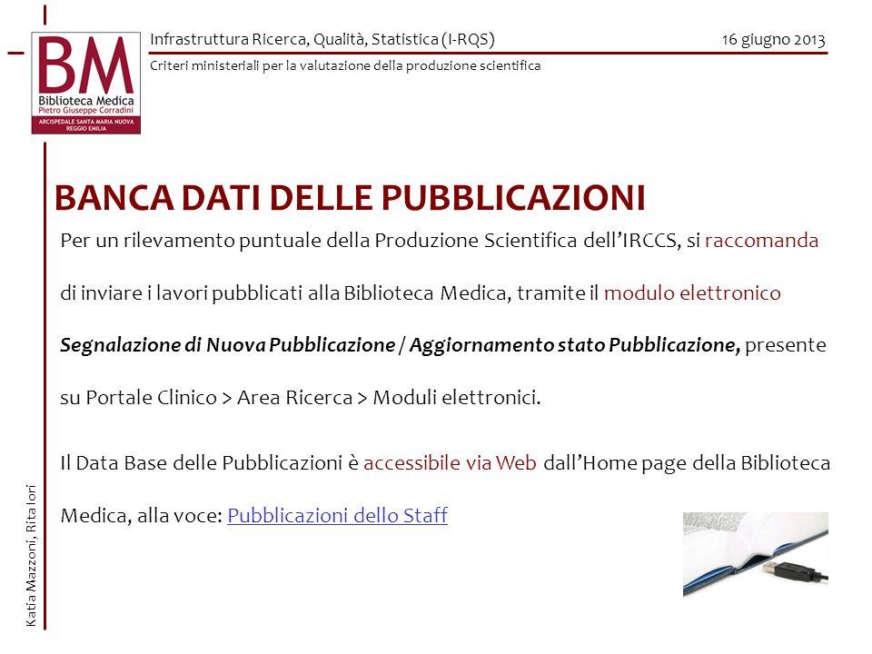 BANCA DATI DELLE PUBBLICAZIONI