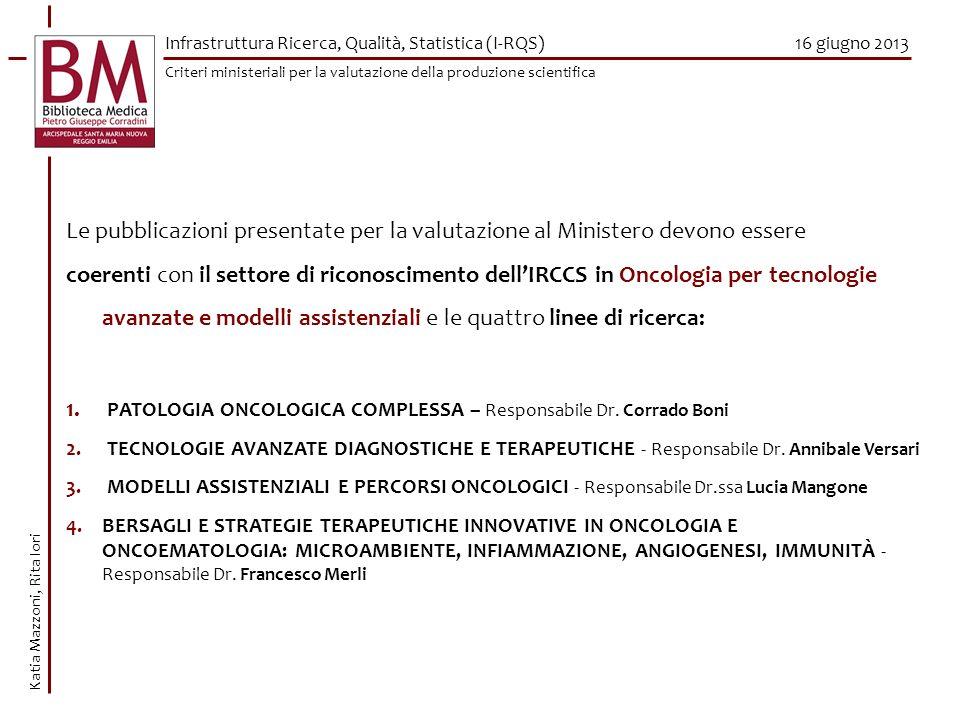 PATOLOGIA ONCOLOGICA COMPLESSA – Responsabile Dr. Corrado Boni
