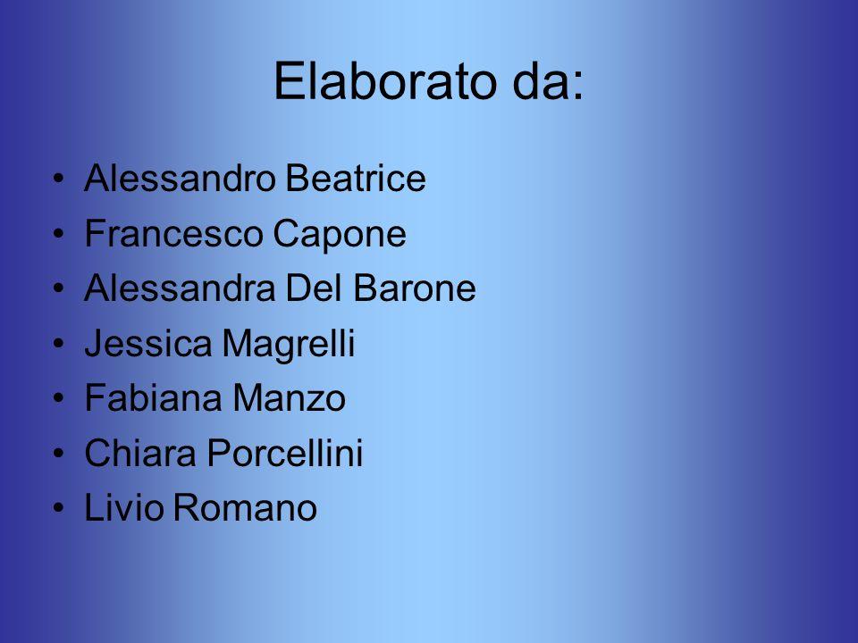 Elaborato da: Alessandro Beatrice Francesco Capone