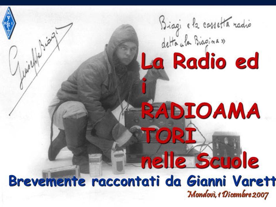 La Radio ed i RADIOAMATORI nelle Scuole