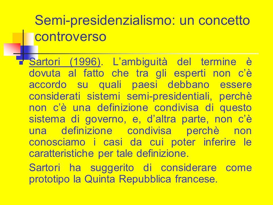 Semi-presidenzialismo: un concetto controverso