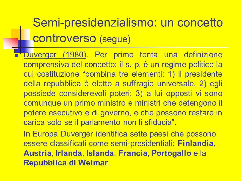 Semi-presidenzialismo: un concetto controverso (segue)