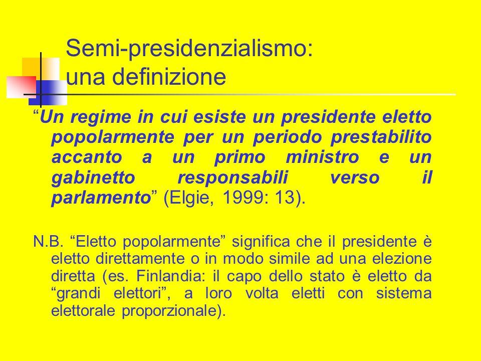 Semi-presidenzialismo: una definizione