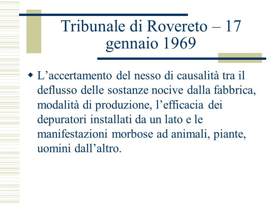 Tribunale di Rovereto – 17 gennaio 1969