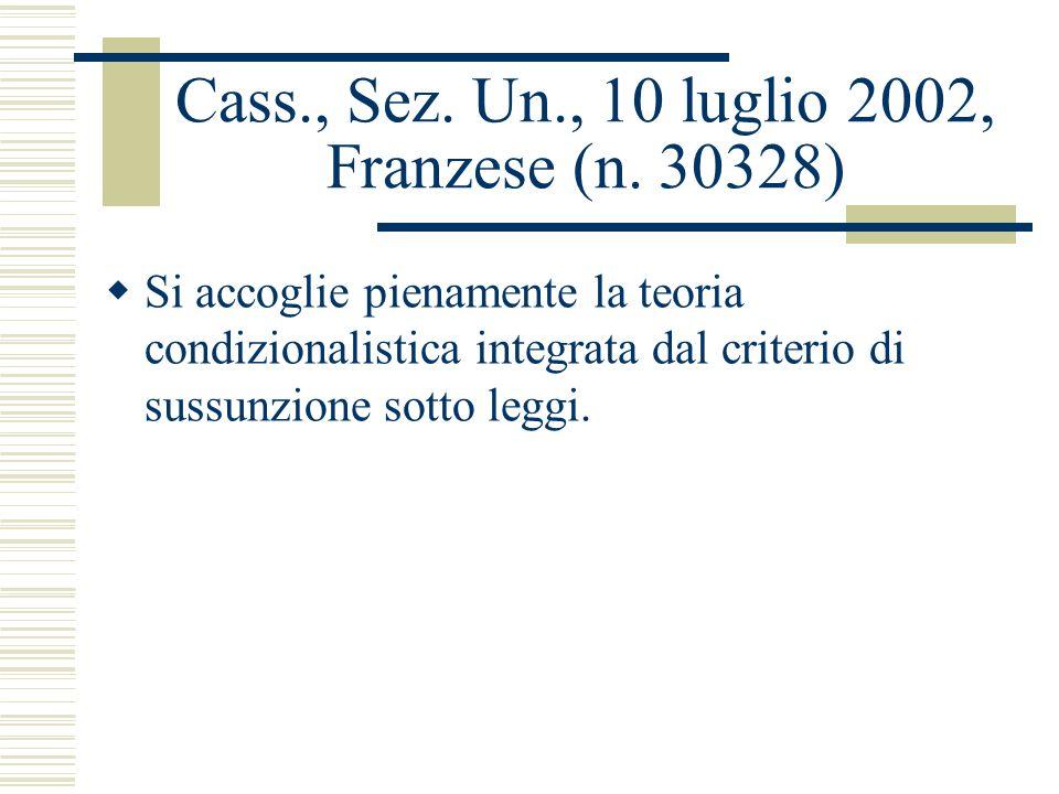 Cass., Sez. Un., 10 luglio 2002, Franzese (n. 30328)