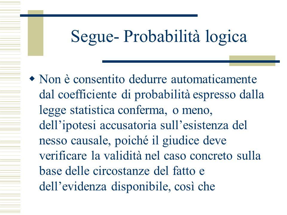 Segue- Probabilità logica
