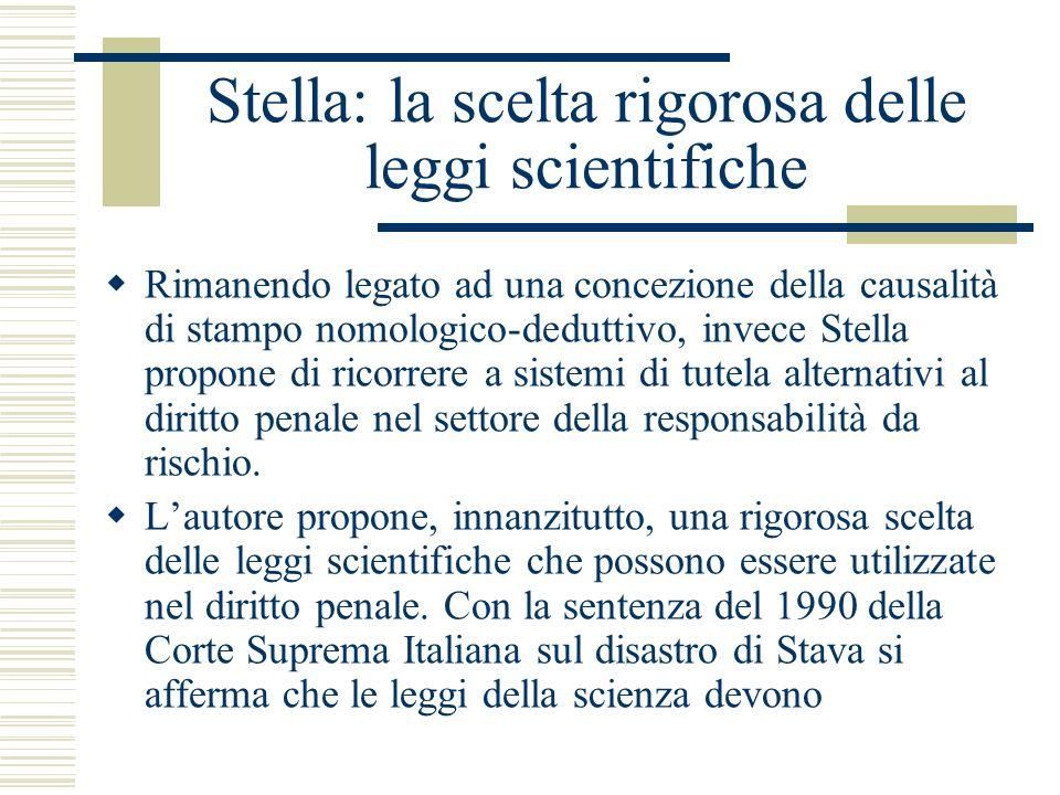 Stella: la scelta rigorosa delle leggi scientifiche